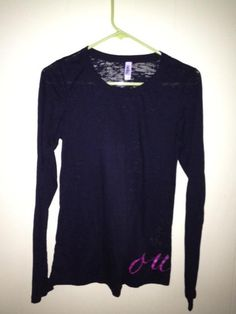 long sleeve burnout top with wraparound Oula (S, M)