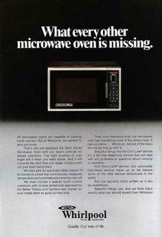 adds 70's Whirlpool microwave 1979