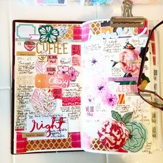 bright & cheery travels. (my midori weekly pages of my week last week, via tammy gilley on pinterest)