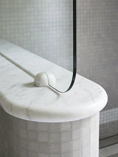SJB | Projects - Sydney Heritage House. Curved detailing to bathroom shower screen.