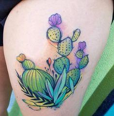 Image Cacti tattoo in Cactus tat album Mom Tattoos, I Tattoo, Tatoos, Kaktus Tattoo, Succulent Tattoo, Plant Tattoo, Cool Tats, Cactus Flower, Skin Art