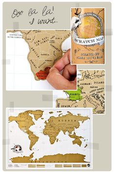 I want a scratch off map of places we've been! A great way to remember the fun!