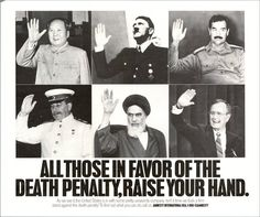 All those in favour of the death penalty, raise your hand, 1989
