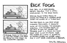 billbreneisen:  It's easy for storyboard artists to forget about certain cinematic techniques because we don't work with actual cameras, film, and lenses.  Here's a little piece about racking focus and it's purpose in cinematic storytelling.  Cheers!