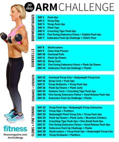 The Super Sweaty 30-Day Arm Challenge That Will Sculpt Your Hottest Arms Ever