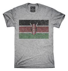 Retro Vintage Kenya Flag T-Shirts, Hoodies, Tank Tops