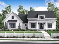ePlans Farmhouse House Plan – Compact Farmhouse Ranch  – 2077 Square Feet and 3 Bedrooms from ePlans – House Plan Code HWEPL78044