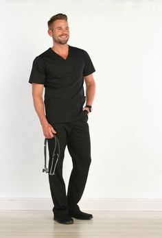 b566e675288 Men's scrubs need to be comfortable, durable, and sleek to compliment the  tough workload