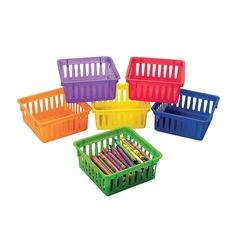 Classroom Small Square Storage Baskets - OrientalTrading.com
