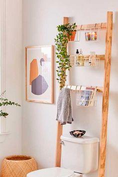 Devon Bath Leaning Storage Rack - Nail Effect - Bathroom - Decoration Help Home Interior, Interior Design, Interior Modern, Apartment Interior, Diy Casa, Ideas Para Organizar, Storage Rack, Storage Ideas, Extra Storage