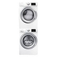 Shop Samsung 4.2-cu ft High-Efficiency Stackable Front-Load Washer with Steam…