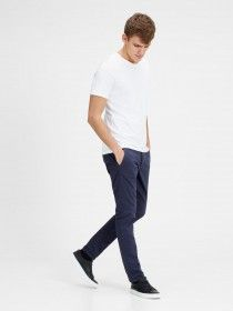 Marco Enzo Slim Fit Chinos by Jack Jones Jeans Chinos Slim Fit, Chino Slim, Pantalon Bleu Marine, Spirit Clothing, Indigo, China, Blazer, Jack Jones, Mannequin