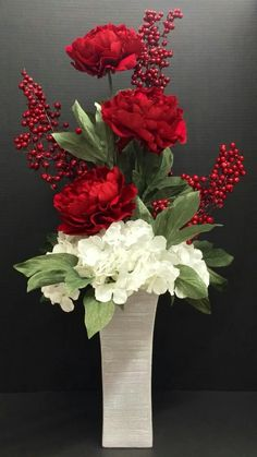 silk flower arrangements in tall vases hydrangea arrangements in tall vases how to arrange artificial flowers in a tall vase tutorial pictures for fake silk floral developments how to make silk flower Arrangements Ikebana, Tall Floral Arrangements, Christmas Flower Arrangements, Flower Arrangement Designs, Artificial Flower Arrangements, Christmas Flowers, Artificial Flowers, Flower Designs, Church Flowers