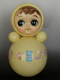Vintage Japan Plastic Chime Roly Poly Doll Toy 70's Googly Eyes 12 5 Inch | eBay Kitsch, Antique Nursery, 70s Toys, Cute Room Ideas, Childhood Days, Fancy, Old Dolls, Baby Rattle, Antique Toys