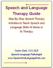 The E-Book is Finally Done!  Great resource for SLPs or parents of children with speech and language delays:  Speech and Language Therapy Guide: Step-By-Step Speech Therapy Activities to Teach Speech and Language Skills At Home or In Therapy // Speech And Language Kids