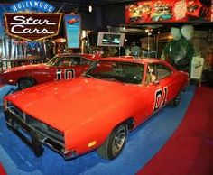 Hollywood Star Cars Museum - The General Lee 1969 Dodge Charger from the Original Dukes of Hazzard Television Series