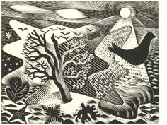 Wood engraving by Eric Ravilious from 'Poems' by Thomas Hennell, 1936 (Oxford University Press) Linocut Prints, Art Prints, Block Prints, Chalk Pastels, Wood Engraving, Woodblock Print, Landscape Art, Graphic Illustration, Printmaking