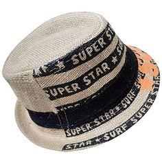 f71b4024a50760 Amazon.com: JD SUITCASE Little Boy's & Girl's Straw Fedoras Hat Caps-BLACK:  Clothing