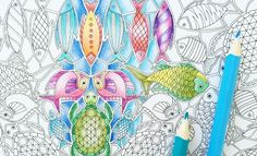 Tips from Johanna Basford on coloring intricate line art. You don't have to fill every space… unless you want to! Rejoice!