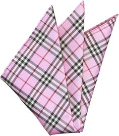 Plaid Thai Silk Pocket Square #57