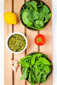 Easy Vegan No-Oil Pesto Replace garlic with garlic scapes 1 cup Vegan Sauces, Raw Vegan Recipes, Heart Healthy Recipes, Vegan Foods, Veggie Recipes, Vegan Gluten Free, Whole Food Recipes, Vegetarian Recipes, Dairy Free