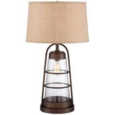 Industrial Nightlight Lantern Table Lamp