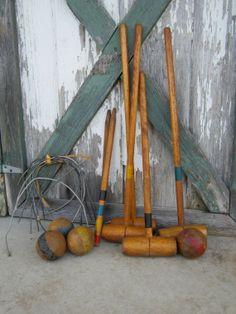 Vintage Childs Croquet Set by WinsomeGingerVintage on Etsy