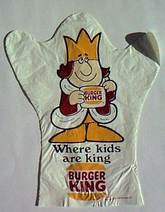 Burger King puppet - 1970's (before the new freaky Burger King)