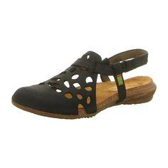 El Naturalista Damen Sandale Wakataua in schwarz Clogs, Shoe Bag, Sandals, Black, Material, Design, Products, Art, Fashion