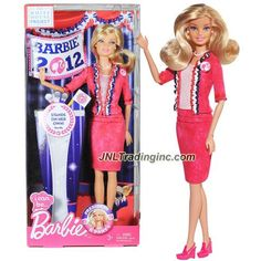"Mattel Year 2012 Barbie ""I Can Be"" The White House Project Series 12 Inch Doll - BARBIE as B Party PRESIDENT (X5323) in Pink Blazer and Skirt with Necklace and Earrings"
