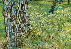 "Vincent van Gogh, ""Tree trunks in the grass late April"" (1890) Saint-Rémy"