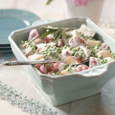 Creamed garden potatoes and peas
