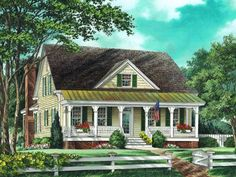 Farmhouse House Plan with 2479 Square Feet and 3 Bedrooms(s) from Dream Home Source | House Plan Code DHSW55264