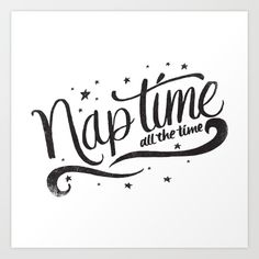 Nap Time Typography