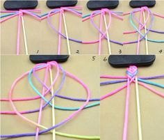 The best DIY projects & DIY ideas and tutorials: sewing, paper craft, DIY. Best DIY Ideas Jewelry: How-to-make-easy-string-bracelets-quickly-within-about-five-minutes -Read Bracelet Crafts, Macrame Bracelets, Jewelry Crafts, String Bracelets, Fishtail Bracelet, Gimp Bracelets, Jewellery Bracelets, Diy Bracelets Easy, Silver Bracelets