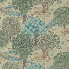 The Original Morris & Co - Arts and crafts, fabrics and wallpaper designs by William Morris & Company | Products | British/UK Fabrics and Wallpapers | The Brook (DM3W214888) | Archive III Wallpapers