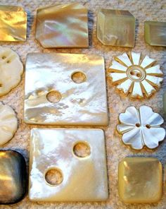 buttons.quenalbertini: Vintage Carved Mother of Pearl Buttons | eBay