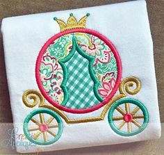 Princess Carriage Applique - 4 Sizes! | What's New | Machine Embroidery Designs | SWAKembroidery.com Creative Appliques