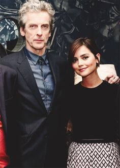 Peter Capaldi and Jenna Coleman. Doctor Who and Clara Oswald.