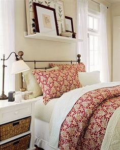 don't get me wrong....nice colors/nice stuff, BUT..personally, shelves over my head in a bed just FREAKS me out!!!