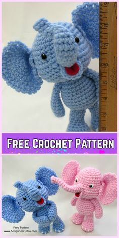 Crochet Elephant Plush Toy Amigurumi Free Patterns-Crochet Baby Elephant Free Crochet Patternv