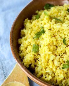 "Indian-Spiced Cauliflower ""Rice"""