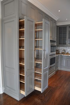 Cute Home Decor kitchen pullout cabinets.Cute Home Decor kitchen pullout cabinets Kitchen Pantry Design, Diy Kitchen Storage, Kitchen Redo, Home Decor Kitchen, Interior Design Kitchen, Kitchen Organization, Kitchen Pantries, Kitchen With Pantry, New Kitchen Cabinets
