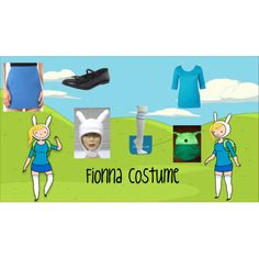 """Fionna the human costume Adventure Time"" by muffinmilkshake on Polyvore"