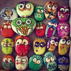 An assortment of colorful owls!!