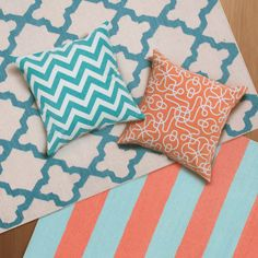turquoise and coral accents for my girls' room - great alternative to pinks