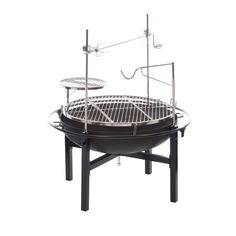 RiverGrille Cowboy 31 in. Charcoal Grill and Fire Pit-GR1038-014612 - The Home Depot