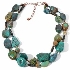 Jay King Hubei and Anhui Turquoise Copper Double Strand Necklace.  I really want this one!