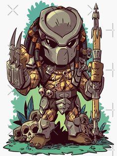 Chibi Marvel, Marvel Art, Chibi Superhero, Cartoon Drawings, Cartoon Art, Predator Alien, Comic Art, Character Art, Horror