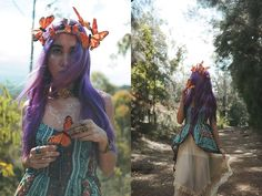 Check out more photos and item details on my blog here: http://stardustbohemian.com/fly-away/  #dress #boho #bohemian #butterfly #mermaidhair #purplehair   Lets be friends! http://stardustbohemian.com/ https://www.instagram.com/thestardustbohemian/